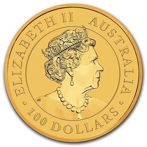 Australian Gold Kangaroo 1 oz Coin - back