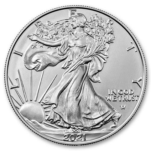 2021 American Silver Eagle 1 oz Coin front