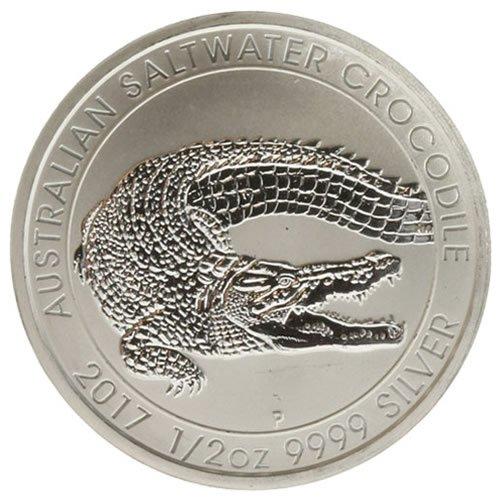 2017 half oz Silver Australian Saltwater Crocodile Coins