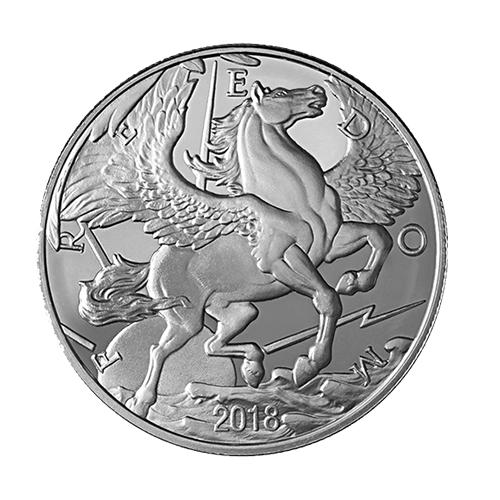 Pegasus Silver Round front