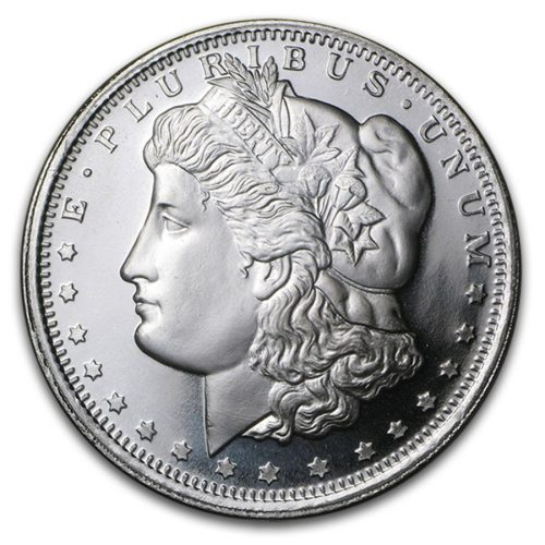 1 oz Silver Morgan Round