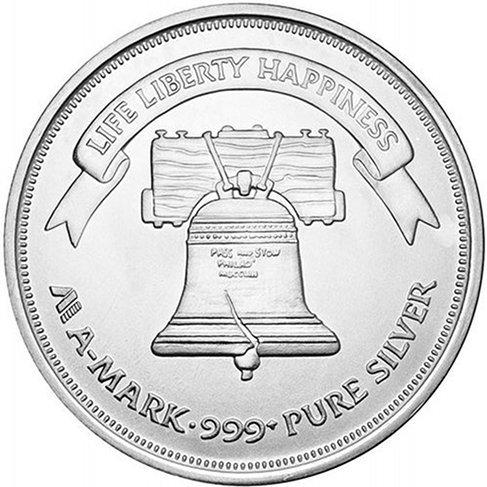 1 oz A-Mark Silver Liberty Round