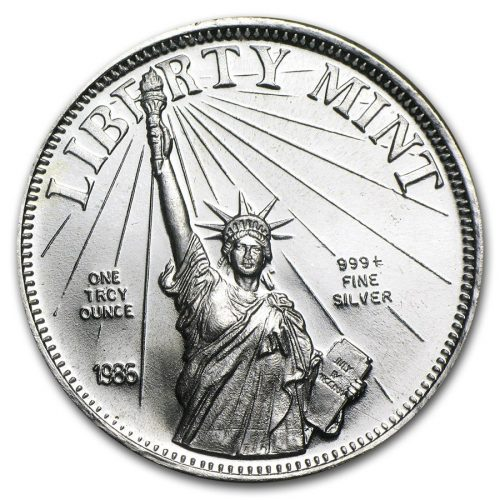 1 oz Silver Round - Liberty Mint