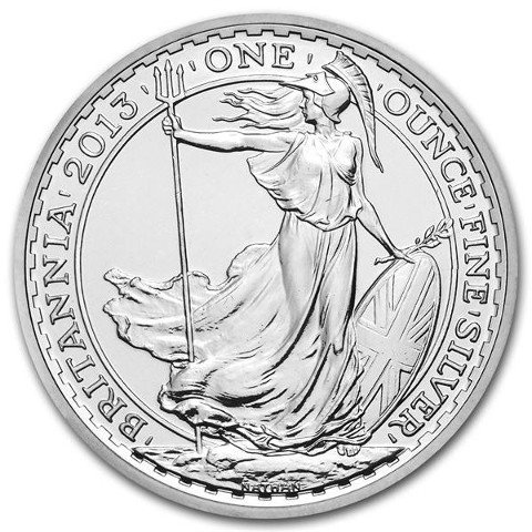 2013 1 oz British Silver Britannia Coin