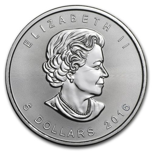 Canadian Maple Leaf Silver Coins - 1 oz.