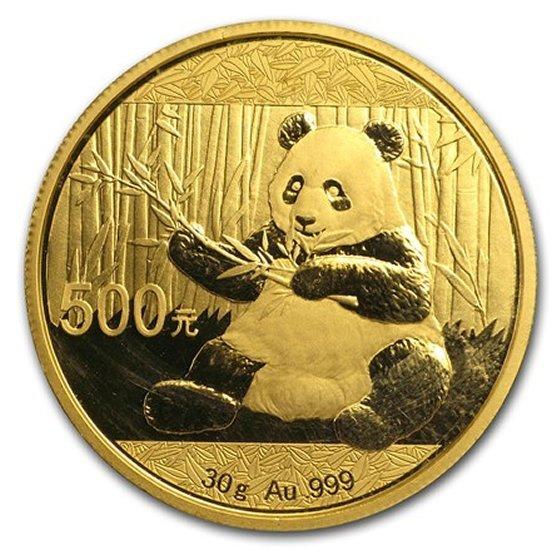 1 oz Gold Panda BU (Random Year)