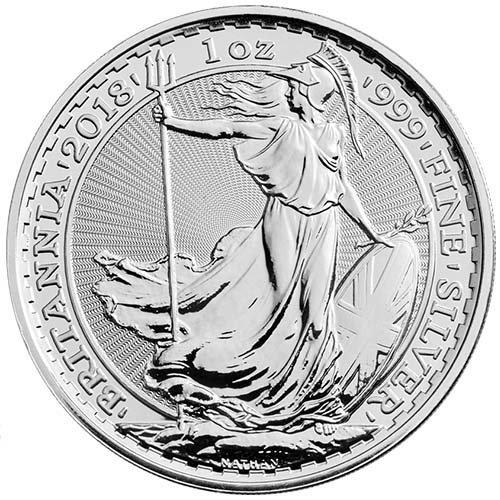 2018 1 oz British Silver Britannia Coin
