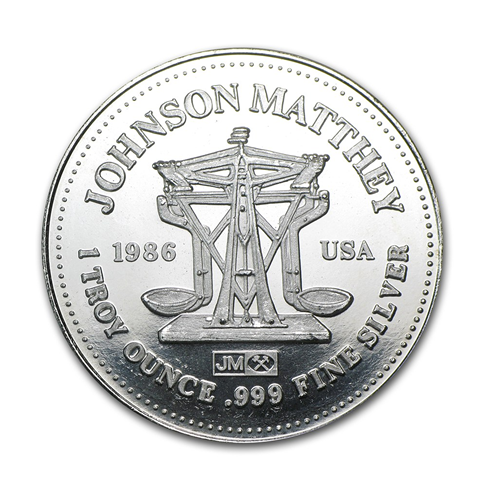 Johnson Matthey - 1 oz Silver Round - Freedom The American Way