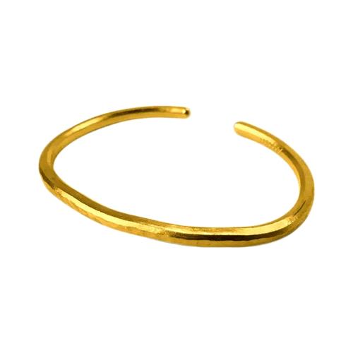 1 oz Hammered Gold Bullion Bracelet