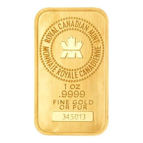 1 oz Royal Canadian Mint Gold Bar front