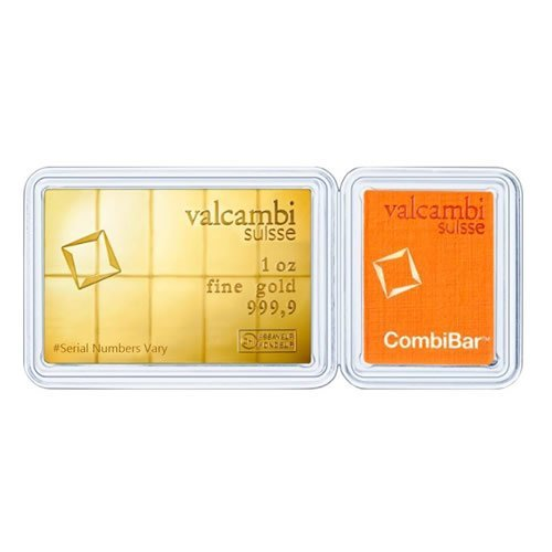 10 x 1-10 oz Gold Valcambi CombiBar .9999 Fine