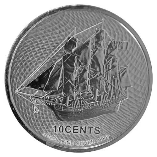 2021 1-10 oz Cook Island Bounty Silver Coin (BU)