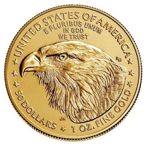2021 1 oz American Gold Eagle Coin Type 2 back