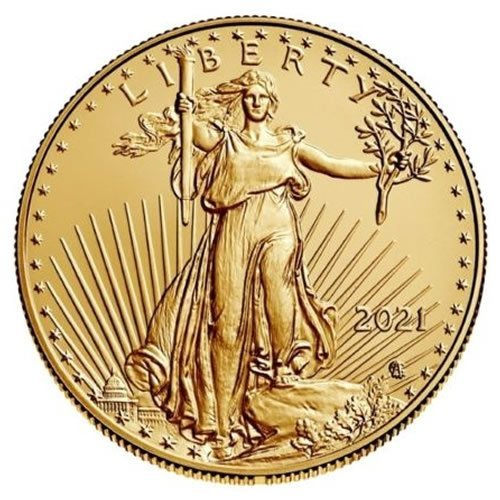 2021 1 oz American Gold Eagle Coin Type 2