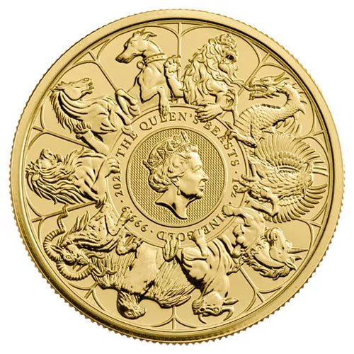 2021 1 oz British Gold Queen's Beast Collection Coin