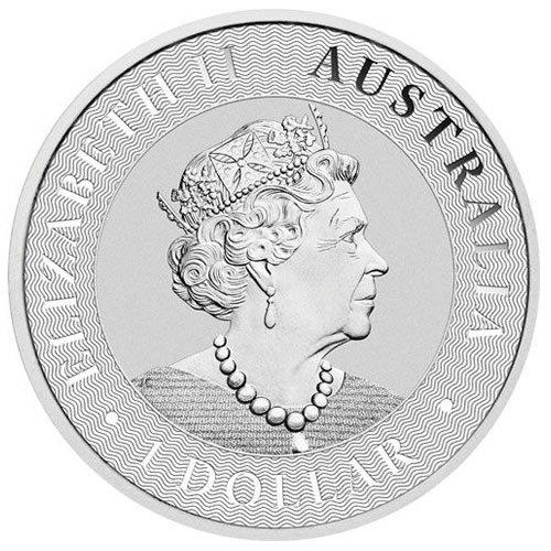 2021 Australian Silver Kangaroo Coin back
