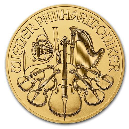 2021 Austria 1-2 oz Gold Philharmonic BU