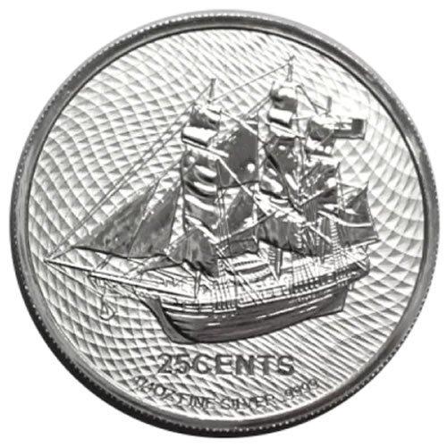 2021 quarter oz. Cook Islands Silver HMS Bounty front