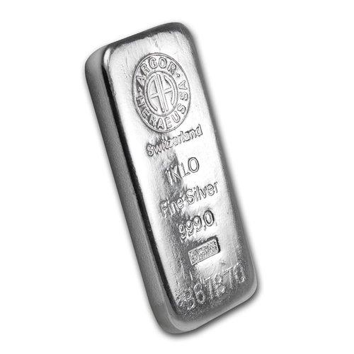 Argor Heraeus Cast Silver Bar 1 Kilo side