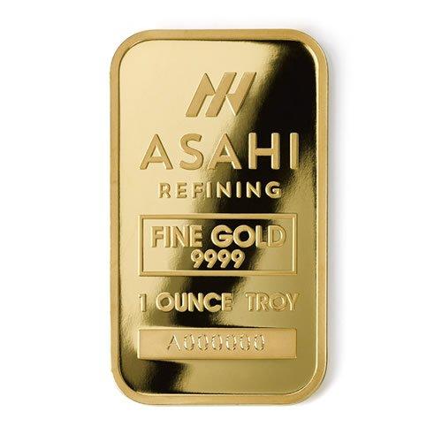 Asahi 1 oz Gold Bar front