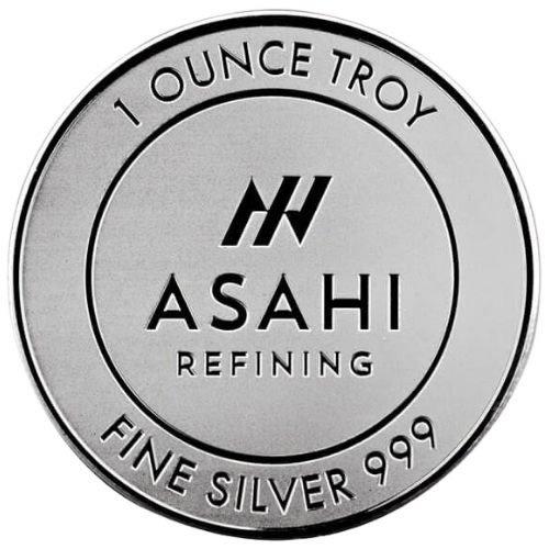 Asahi 1 oz Silver Round front