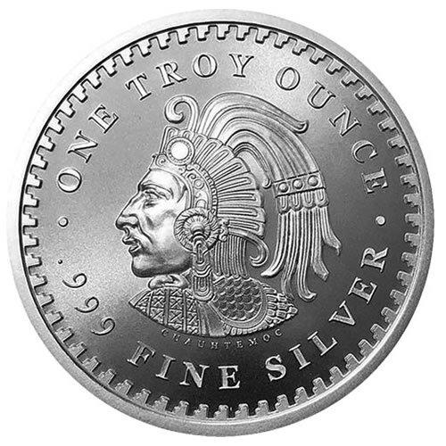 Aztec Calendar 1 oz Silver Round back