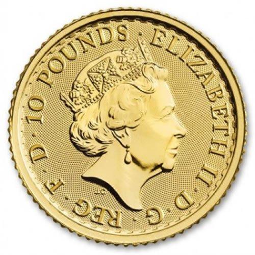 British Gold Britannia Coin1-10oz back
