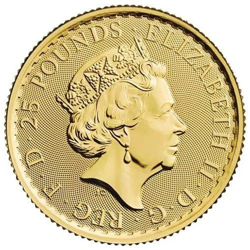 British Gold Britannia Coin1-4oz back