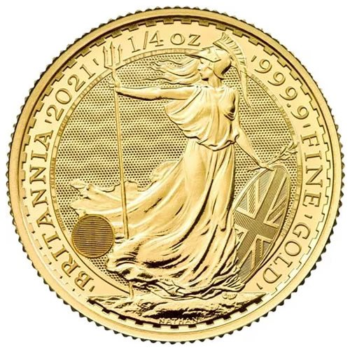 British Gold Britannia Coin1-4oz front