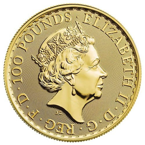 British Gold Britannia Coin1oz backt