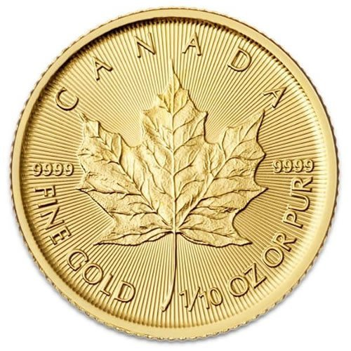 Canadian Gold Maple Leaf 1-10 oz Coin