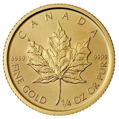 Canadian Gold Maple Leaf 1-4 oz Coin