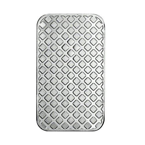 HM Morgan silver Bar 1 oz back