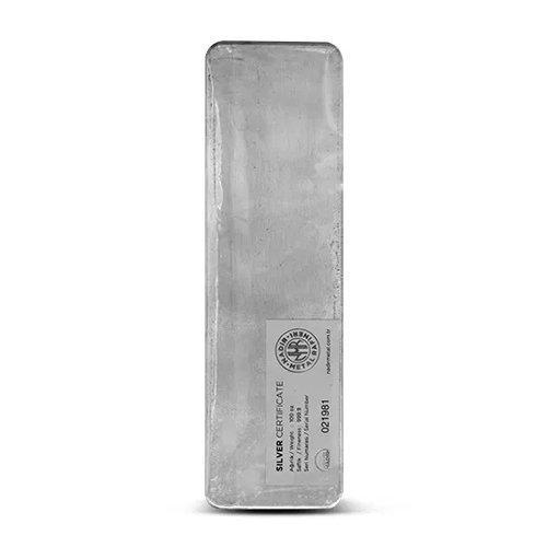 Nadir Refinery Silver Bar 100 oz back