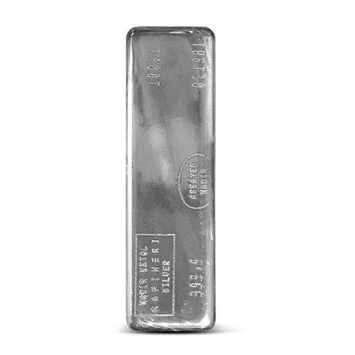Nadir Refinery Silver Bar 100 oz front