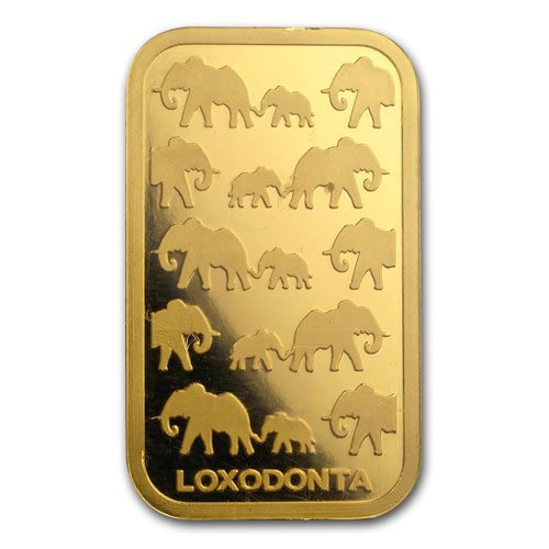 Rand Refinery 1 oz Gold Bar back