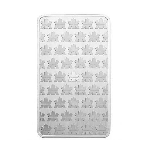 Royal Canadian Mint Silver Bar 10 oz back