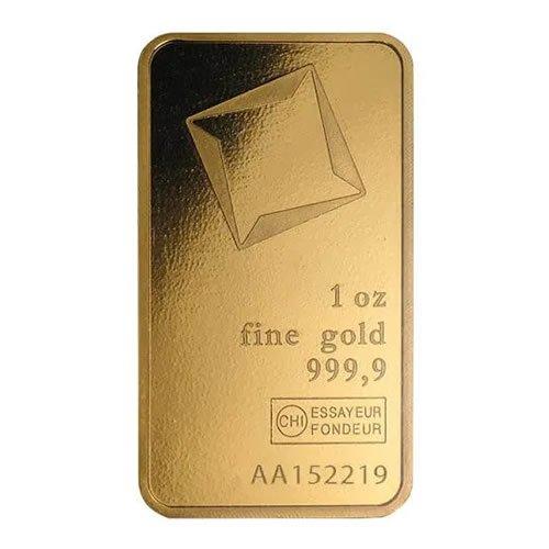 Valcambi 1 oz Gold Bar back