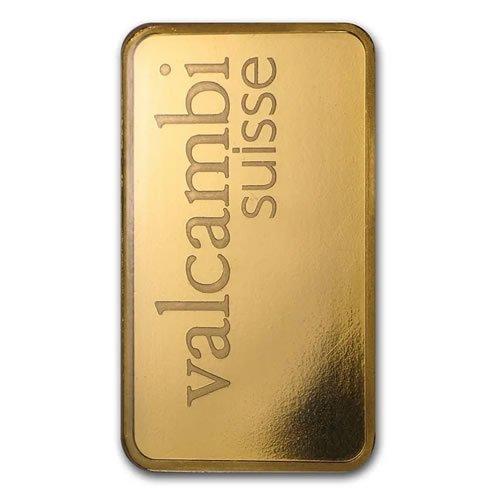 Valcambi 1 oz Gold Bar front
